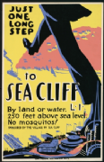 Vintage Travel Poster Sean Cliff on Sea